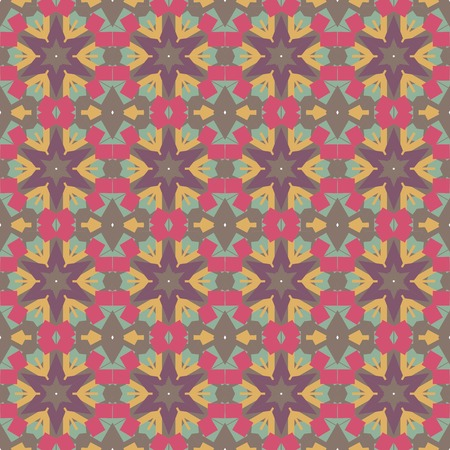 octagon: Abstract Retro Geometric seamless pattern with octagon shapes. Vector Illustration Illustration