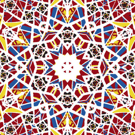 kaleidoscopic: Multicolored kaleidoscopic tile element colored with stylish palette.