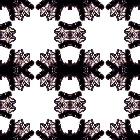 inky: Abstract kaleidoscopic pattern. Seamless tiles with symmetrical pattern. Colorful background template for different design uses. Illustration
