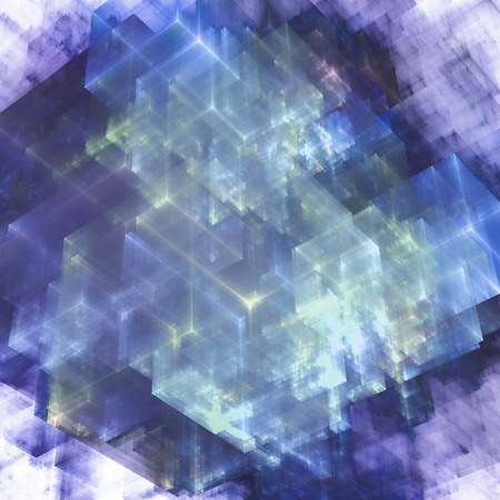 Abstracts background with transparent rectangular shapes as conceptual metaphor for modern technology, science and business. Standard-Bild