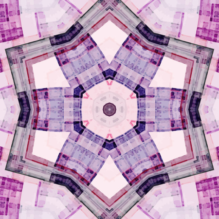 scientifical: Abstract kaleidoscopic pattern. Seamless tiles with symmetrical pattern. Colorful background template for different design uses. Illustration