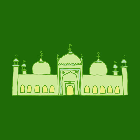 namaaz: Colorful drawings of mosque Illustration