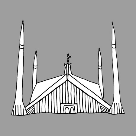 namaaz: drawings of mosque