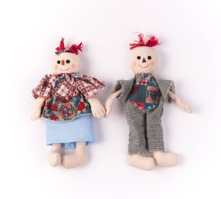 raggedy: Funny couple of Halloween toys. Stock Photo
