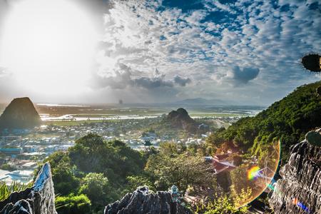 Uitzicht vanaf de bergen van Marble, Da Nang, Vietnam
