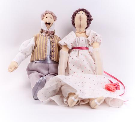 quaker: Textile dolls in historic costumes of Napoleon era.