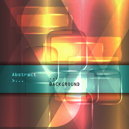space television: Background texture with glowing frames and splines for themes of science, computers and technology Illustration
