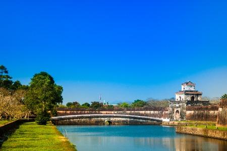 Beautiful site of Citadel in Hue, Vietnam. Citadel in Hue is enlisted Stock Photo