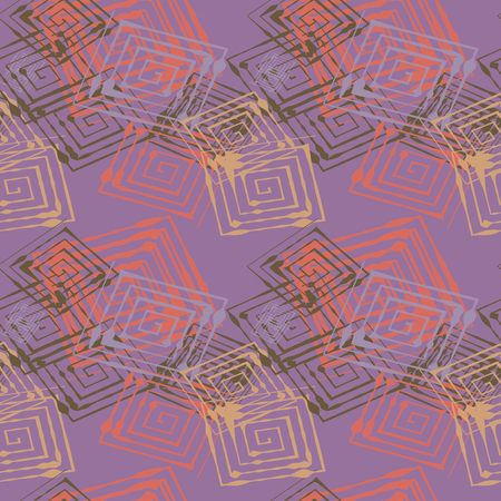 Seamless pattern with abstract geometrical elements. Seamless colorful spirals. Stylish texture for different design uses.