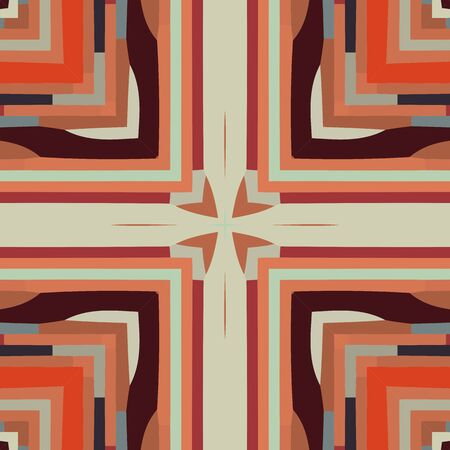 buddism: Flat ethnic seamless pattern. Colorful geometrical ornament tiles. For different design uses, as wallpaper, pattern fills, web page background, surface textures for print and dalle production.