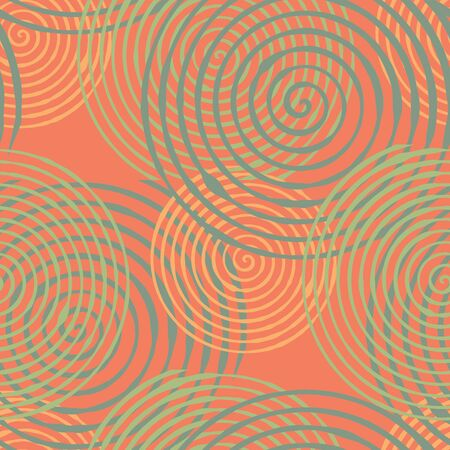 interference: Seamless pattern with abstract geometrical elements. Seamless colorful spirals. Stylish texture for different design uses.