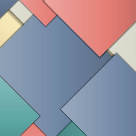 banners web: Stack of random rectangles hovering in space on a flat surface. Abstract background in the paradigm of material design. Perfect background texture with multiple colors and 3d effects.