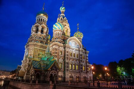 church tower: Church on Spilled Blood in Saint Petersburg, Russia Stock Photo