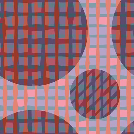 grid: Colorful grid Seamless pattern.