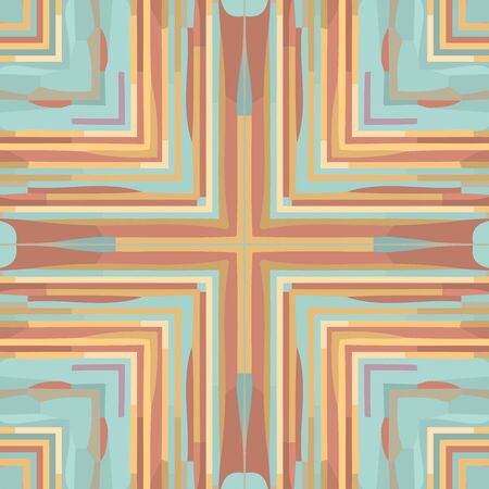 Flat ethnic seamless pattern. Colorful geometrical ornament tiles