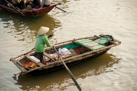 long bay: Boat in Ha Long Bay, Vietnam