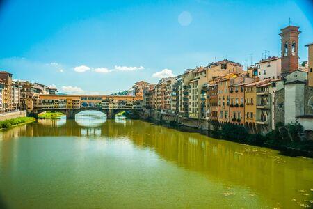 arno: Pone Vecchio over Arno river in Florence, Italy.