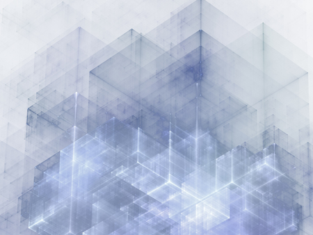 abstracts: Abstracts background with transparent rectangular shapes as conceptual metaphor for modern technology, science and business Stock Photo