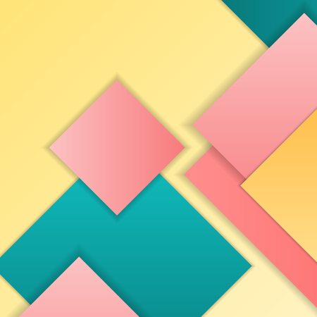 hovering: Stack of random rectangles hovering in space on a flat surface. Abstract background in the paradigm of material design. Perfect background texture with multiple colors and 3d effects.
