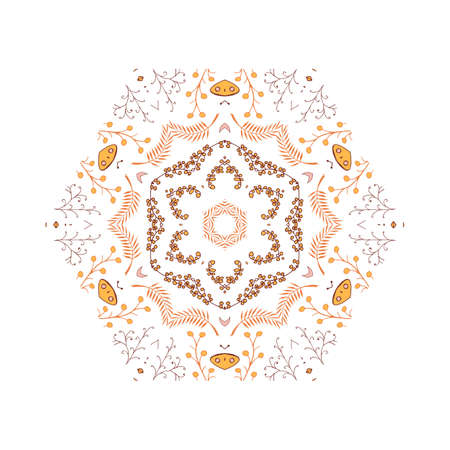 kelet európa: Gorgeous symmetrical patchwork pattern. Colorful floral ornament tiles. For different design uses, as wallpaper, pattern fills, web page background, surface textures for print and dalle production. Illusztráció