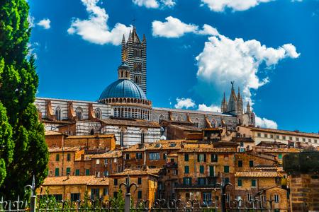 Panorama of Siena, Tuscany, Italy 写真素材