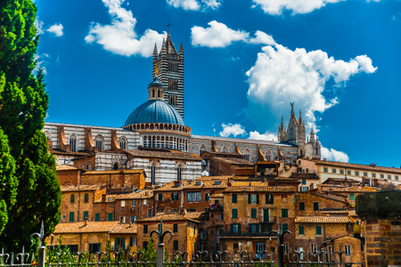 duomo: Panorama of Siena, Tuscany, Italy Stock Photo