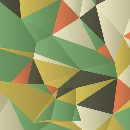 Dreiecke mit Schattierungen und Farben in bunte Muster angeordnet sind. Geometrische Muster mit Vintage-Farben. Zusammenfassung Hintergrund mit 3D-Design-Elemente. Material-Design Textur für Hintergründe und GUI.