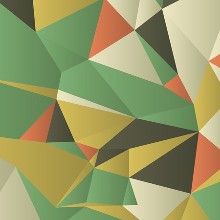 gradient: Triangles with shades and colors arranged in colorful pattern. Geometrical pattern with vintage colors. Abstract background with 3d design elements. Material design texture for backgrounds and gui.