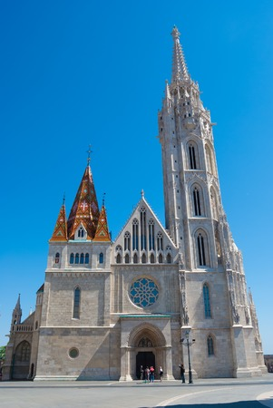 matthias: St. Matthias church in Budapest, Hungary. Saint Matthias cathedral. Beautiful gothic architecture in Hungary, travel destinations in Budapest.
