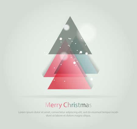 christmas concept: Abstract christmas tree icon or  concept.
