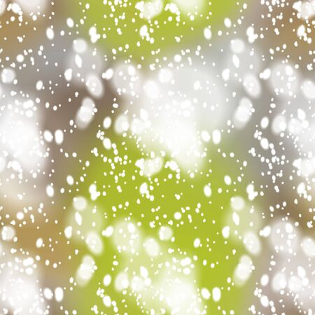 windstorm: Seamless pattern with colorful blurred background and realistic snow overlay.  Background tile for winter holidays. Abstract texture template.