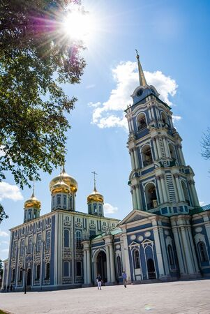 repentance: Kremlin in Tula - an ancient city near Moscow, Russia. Image of travel in Russia. Historical buildings, travel background from Russia. Stock Photo