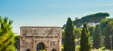 emperors: Arch of Constantine, Rome, Italy. Built to commemorate the emperors victory over his rival Maxentius in AD 312.