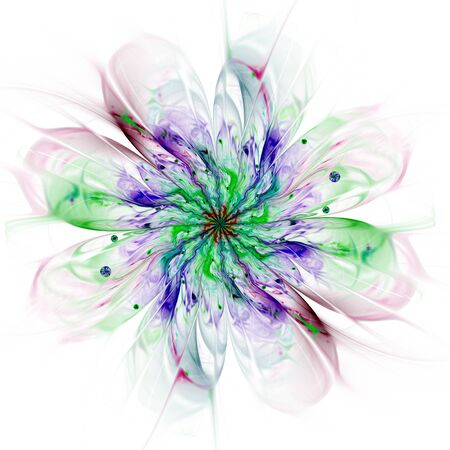 Macro closeup of fractal flower, digital artwork for creative graphic design
