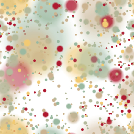 windstorm: Seamless pattern with colorful blurred circles.  Background tile for winter holidays. Abstract texture template.