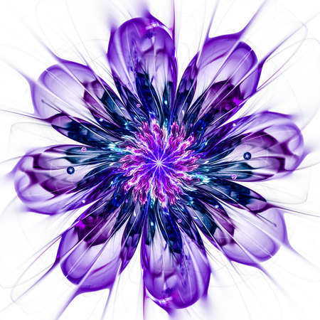 macro: Macro closeup of fractal flower, digital artwork for creative graphic design