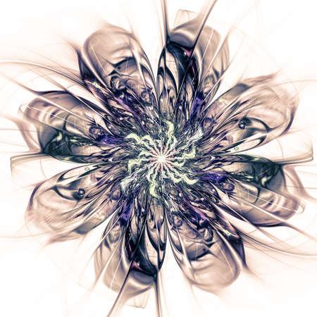 macro: Macro closeup of fractal flower, digital artwork for creative graphic design