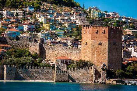 Kizil Kule (Red Tower) in Alanya, Antalya, Turkey Reklamní fotografie