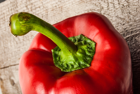 red bell pepper: Red Bell Pepper on wood