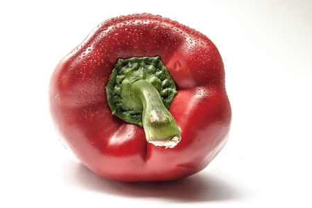 bell pepper: Red Bell Pepper on a white background Stock Photo
