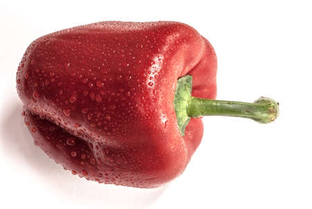 red bell pepper: Red Bell Pepper on a white background Stock Photo