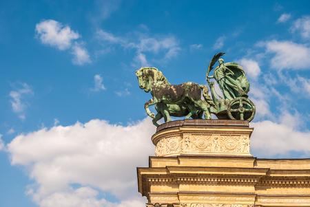 predecessor: Detail of the monument on the Heroes square in Budapest, Hungary. Stock Photo