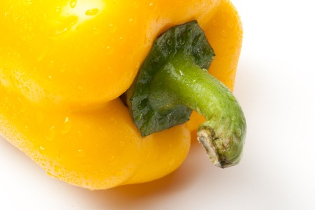 bell pepper: Yellow Bell Pepper on a white background