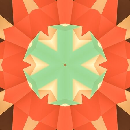 dens: illustration seamless pattern background with different geometrical shapes of multiple colors. Illustration with symmetrical design. Kaleidoscope backdrop. Modern banner design template.