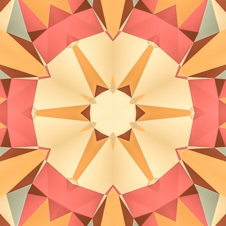 illustration seamless pattern background with different geometrical shapes of multiple colors.