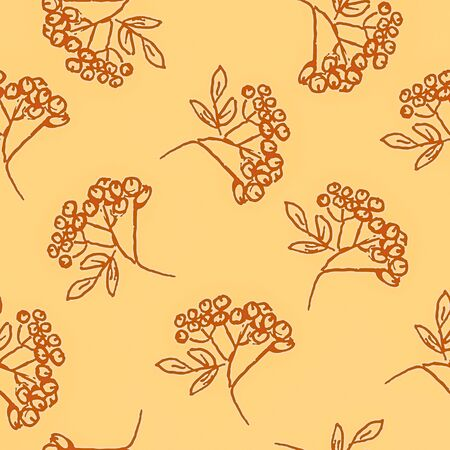 closer: Seamless pattern with hand drawn leaves.