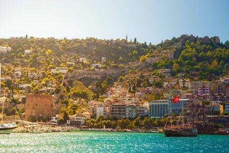 alanya: Kizil Kule Red Tower in Alanya, Antalya, Turkey