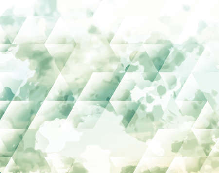 representations: Abstract background texture with blue strokes of paint ang transparent triangular shapes. Stylish texture for use as a background. Abstract representations of blue sky, clouds or water.