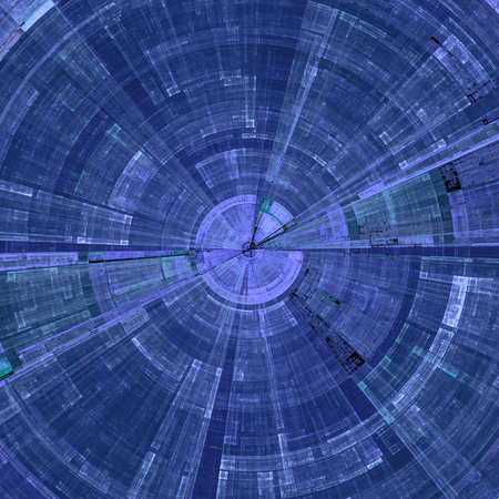 Composition of abstract radial grid and lights as a concept metaphor for technology, science and entertainment Stock Photo
