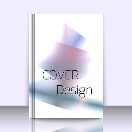geometrical pattern: Abstract background for booklet with glowing colorful geometric shapes. Geometrical pattern for covers, banners, booklets and other design uses. For web or printed media.